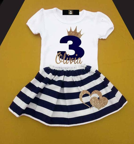 Girls 3 Year Old Birthday Outfit Third Three