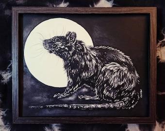Framed Original - Moon Rat - 2021