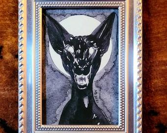 Framed Original - Black Cat - 2021