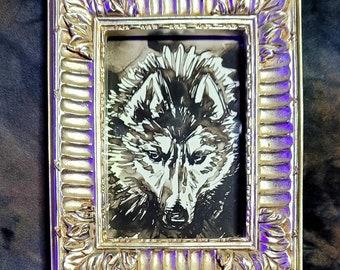 Framed Original - Husky Study - 2021