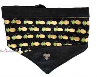 Summer Pineapple DogPet Bandana and Tote