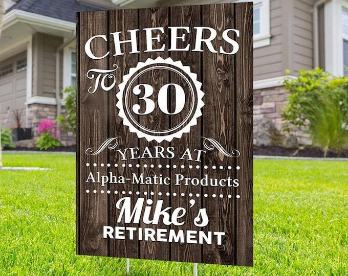 Retirement yard sign design, Digital file only, retirement lawn sign, retirement party gift, quarantine party, retirement party, sign