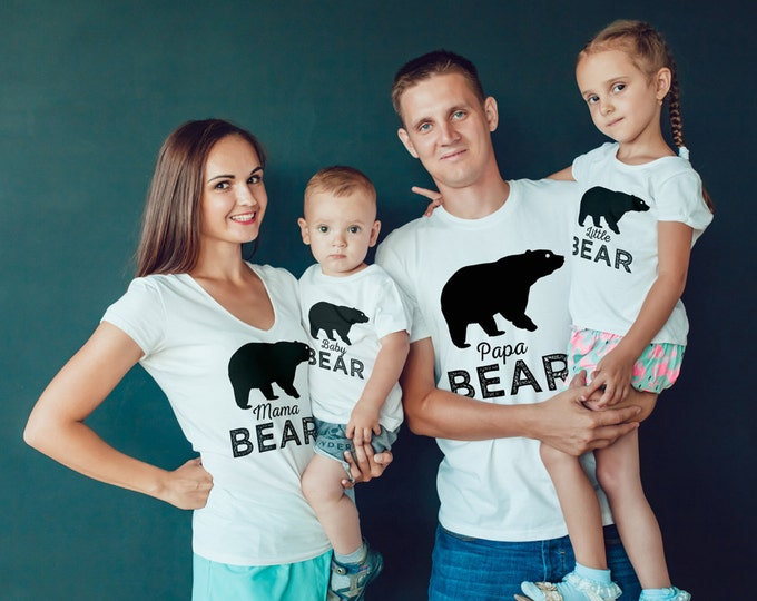 Digital files only • Birthday T-shirt, little bear, lumberjack, birthday shirt, first birthday shirt, family shirts