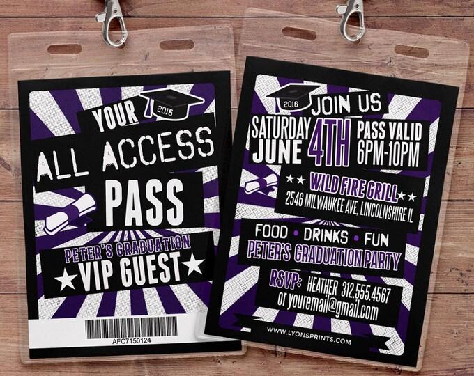 Graduation party invitation, Concert ticket, Rock star theme. Rock star party, Graduation invite, School event invite