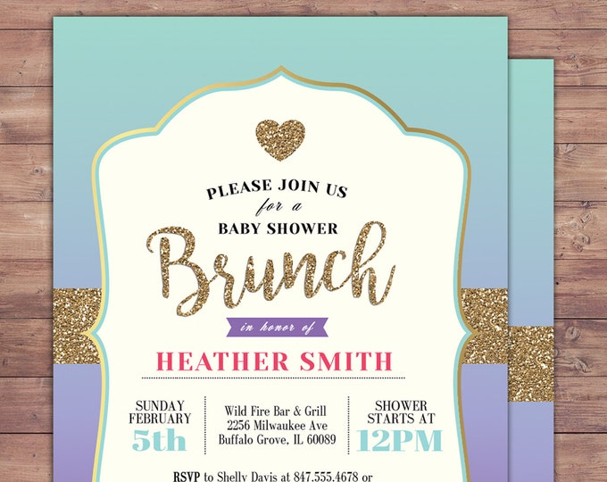 Spade party, invitation,  bridal shower invitation, brunch, invite, sweet 16, birthday invitation, wedding, baby shower, couples shower