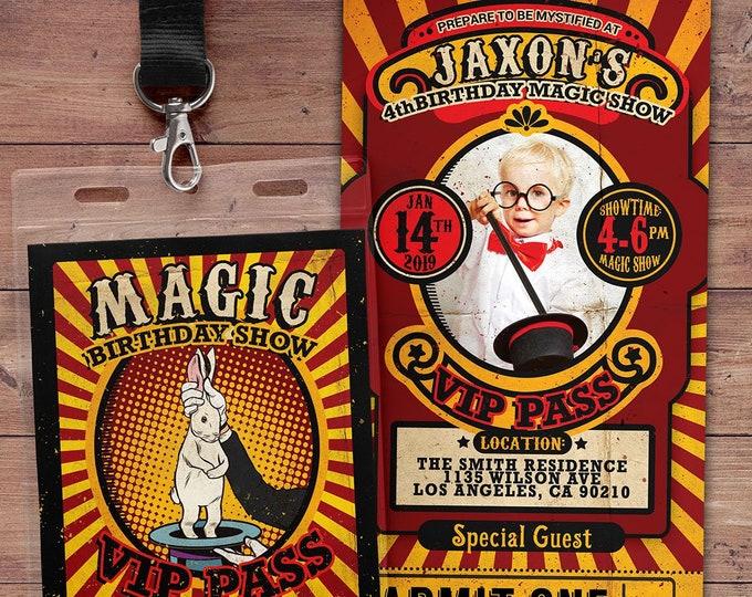 Magic Party Invitation Magic Birthday Invitation Magician Invitation Magic Show Invitation Magic Show Birthday Party Magician Birthday Party