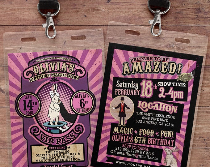 Magic Party Invitation Magic Birthday Invitation Magician Invitation Magic Show Invitation Magic Show Birthday Party Magician Birthday Party