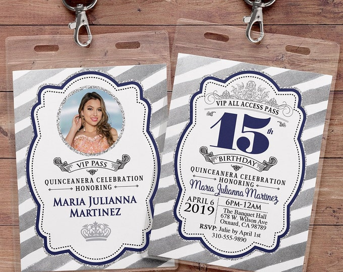 ANY AGE, Princess Invitations - Princess Birthday Party Invitations, first birthday, 1st birthday, VIP pass, Quinceanera, sweet 16, 15th