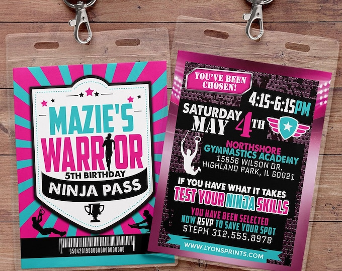 Army Invitation, warrior invitation, Ninja invite, paintball invitation, Army  Invitation, gymnastics Party, Boot Camp, Obstacle course