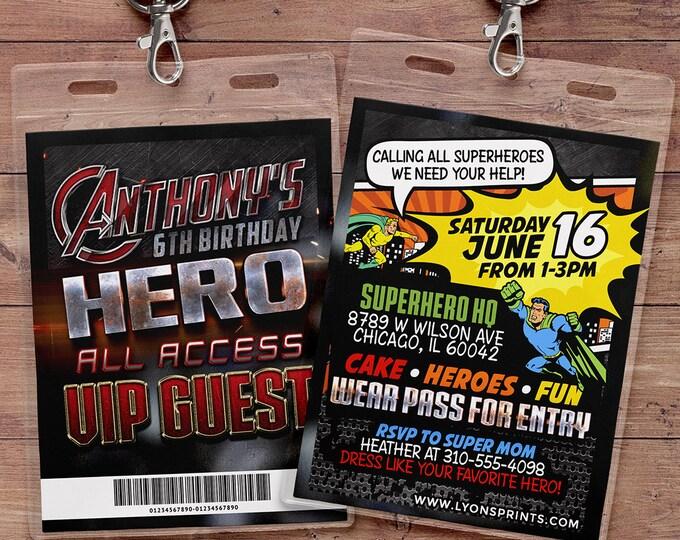 Sleepover party invitation / boy birthday invitations / sleepover invitation / super hero invitation / comic invitation / Video game