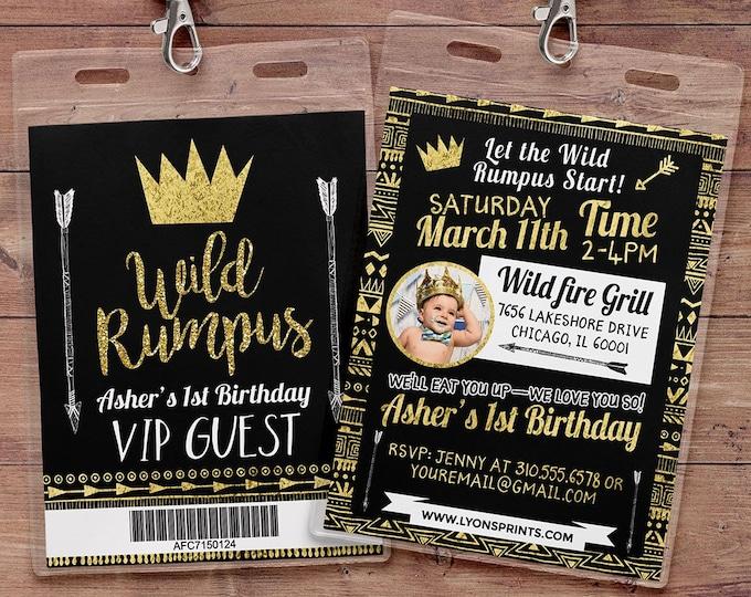 Wild one Birthday Invitation, Wild thing birthday Invite, invitation, pow wow, BOHO, Tribal, first birthday, 1st birthday, wild rumpus