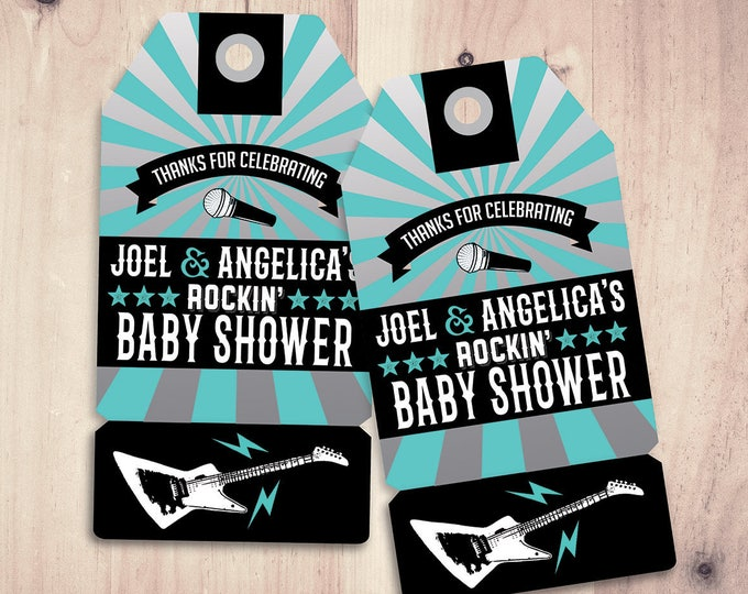 """Party favor tag """"Rock Star"""" baby shower, baby shower favor, baby shower, party favor tag, birthday party, party printable file"""
