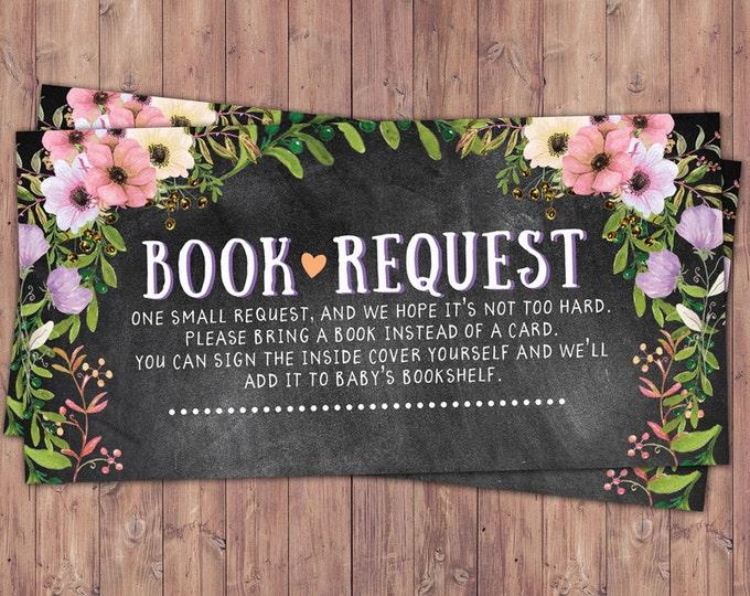 Book request, Floral, rustic, BOHO, BabyQ chalkboard couples co-ed Baby Shower BBQ invitation - babyq - boy girl- , baby girl shower
