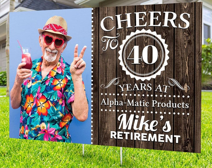 Retirement yard sign design, Digital file only, retirement lawn sign, retirement party gift, quarantine party, retirement party, sign