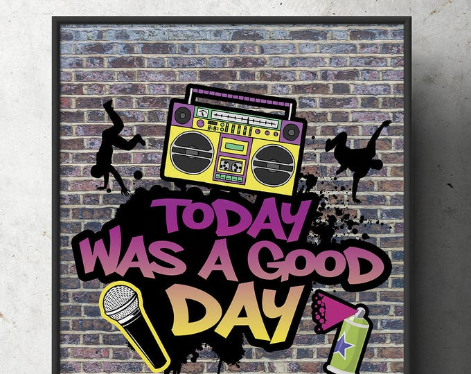 Fresh Prince, 90s party signs, Birthday, Baby Shower, HiP HOP,, 90s, party decor, Graffiti, birthday, DJ, 90s party, printables