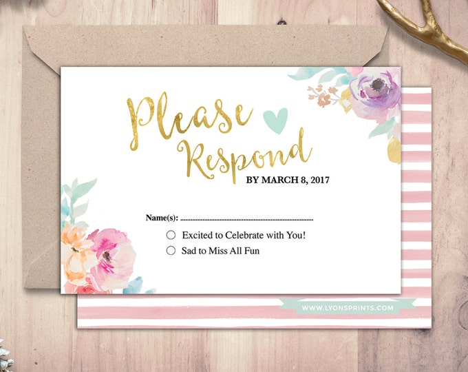 Happily ever after RSVP card, BOHO wedding shower, couples shower, arrows, Tribal, wedding, bridal shower printable