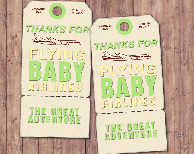 Luggage tag, favor tag ,birthday, travel, party favor, travel shower,vintage, baby shower, printable file