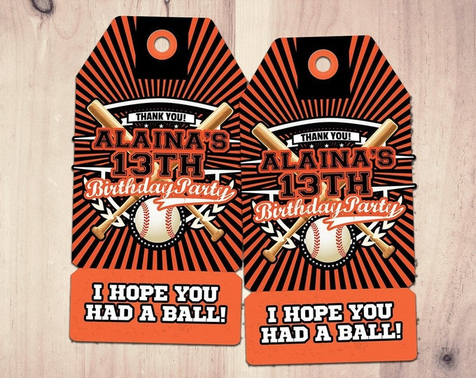 Basketball Birthday Party Favor Tag. I Hope You Had A Ball. Football party, basketball party, wrestling party, sports party, All-Star