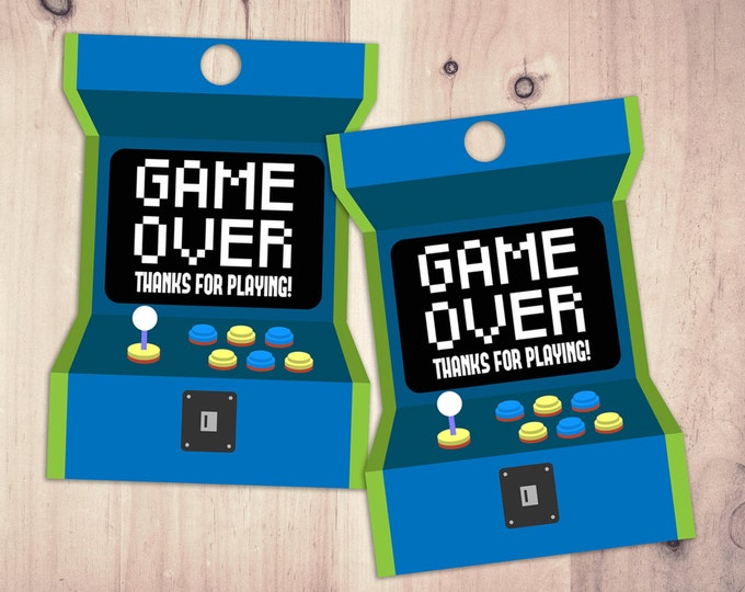 Video Game Tags | Game Truck Party | Video Game Party Favor | Game Truck, VIP , Favor Tags, Digital files, printables