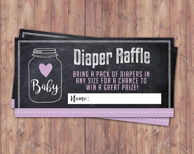 Diaper raffle, shower game, rustic, BOHO, BabyQ chalkboard couples co-ed Baby Shower BBQ  - babyq - boy girl- , baby girl shower