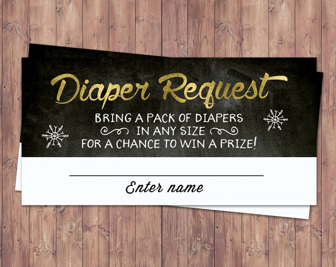 Winter baby shower, diaper raffle, Retro chalkboard Baby it's cold outside snowflake gender neutral couple baby shower, snowflake, hot cocoa