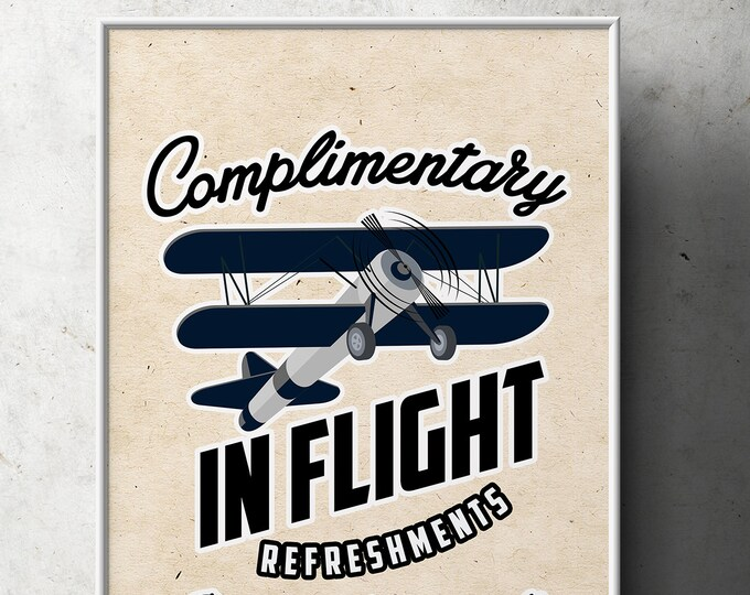 Party signs, Vintage Airplane, birthday, luggage tag- Vintage, Airplane / Birthday Party, first birthday, Digital files only, 1st, 60th