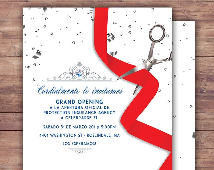 Grand Opening Invitation, Open House, Ribbon Cutting, Grand Opening, Grand Opening Party, Grand Opening celebration, Printable file