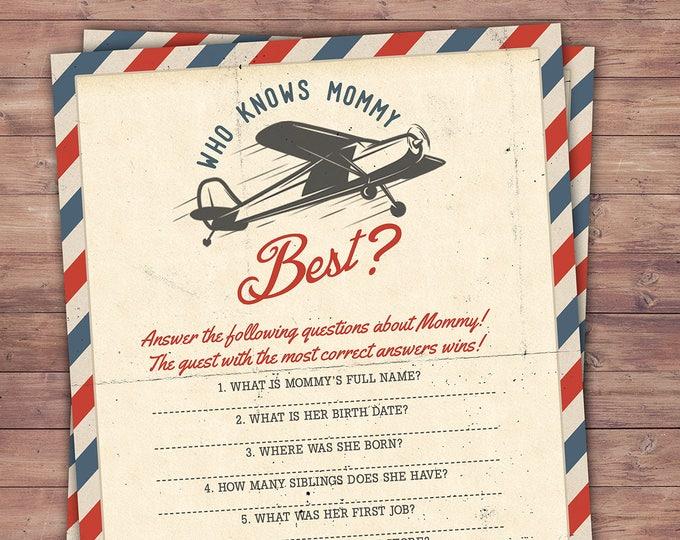 Precious Cargo, Baby Shower game, travel Baby Shower, vintage airplane, airplane party game, baby shower printable