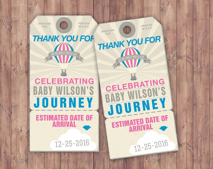 Luggage tag, favor tag ,birthday, travel, party favor, travel shower, vintage, baby shower, printable file, party favor, travel party