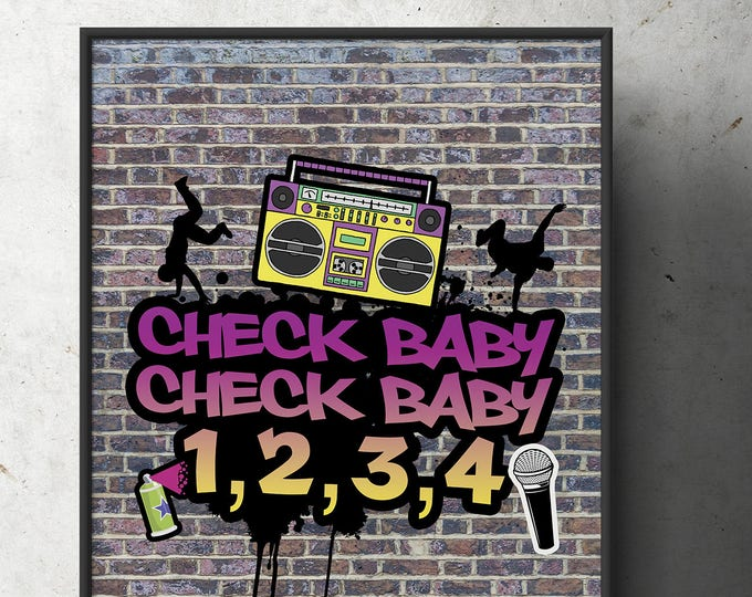 Fresh Prince, 90s party signs, Birthday, Baby Shower, Hip Hop, 90s, party decor, Graffiti, birthday, DJ, 90s party, printables