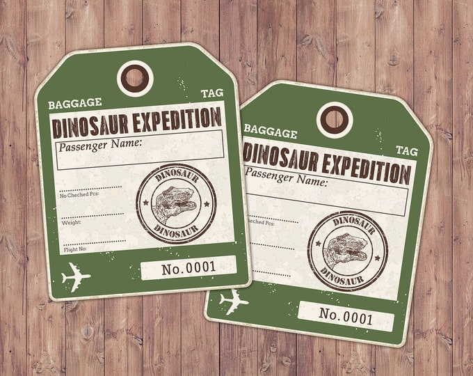 Dinosaur Dig Party label, Dinosaur Birthday, Boy Birthday Party, Dino Skeleton and Bones - Archaeologist, Fossil, paleontologist, sticker