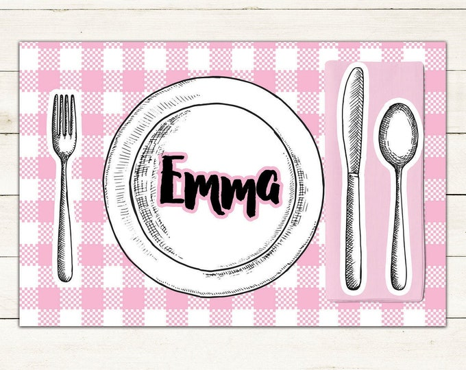 Educational gift, Personalized digital Placemats, Digital file only, Kids Placemats, children's gifts, Placemats for kids, custom Placemats