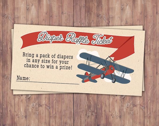Precious Cargo, diaper request, Baby Shower game, diaper raffle, vintage airplane, baby shower game, travel baby shower