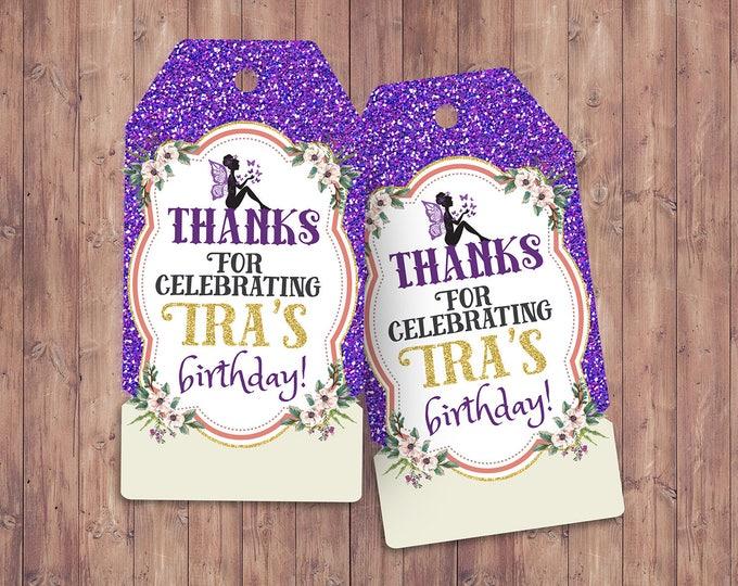 Pixie, fairy, pixies, favor tags, Neverland Birthday Invitation, Party favor, thank you, custom label, birthday invitation, fairytale