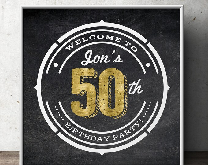 30th, 40th, 50, 60th, 70th, 80th, 90th  birthday party decoration, cheers and beers decor ( Digital file only)