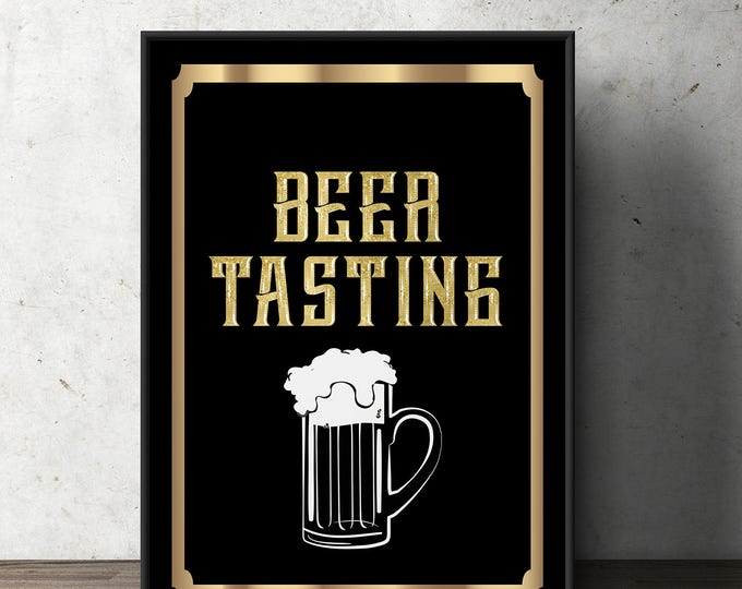 Cheers and Beers, poster, beer tasting, 21st, 30th, 40th, 50th, 60th, Surprise Birthday Party, adult birthday, wine tasting, party sign