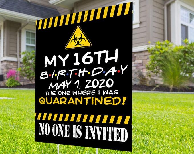 Happy birthday Yard Sign, Honk outdoor sign, Digital file only, Quarantine Birthday , Birthday Yard Sign, Happy Birthday Sign, Yard sign