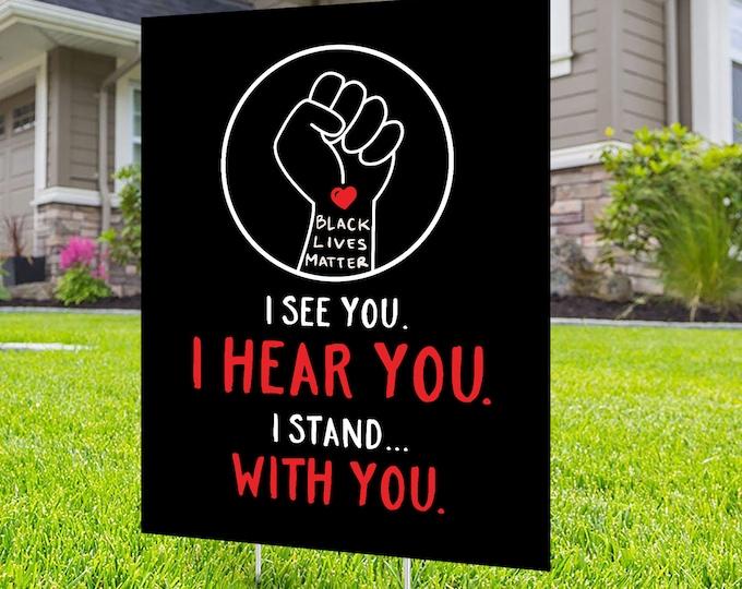 Black lives matter yard sign design, Digital file only, No Hate sign, Black rights, human rights, Kindness sign, Black lives matter, Poster