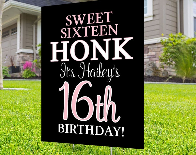 Happy birthday Yard Sign,  Digital file only, Honk outdoor sign, Quarantine Birthday, Birthday Yard Sign, Happy Birthday Sign, Yard sign