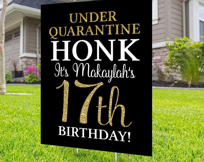 Happy birthday Yard Sign, Honk outdoor sign, Quarantine Birthday , Digital file only, Birthday Yard Sign, Happy Birthday Sign, Yard sign