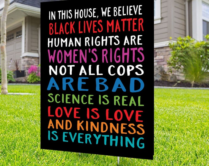 Black lives matter yard sign design, Digital file only, No Hate sign, Black rights, human rights, Love thy neighbor, Kindness is everything