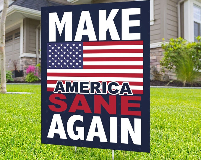 Political Campaign Yard Sign design, Digital file only, rally sign, democrat, liberal, political sign, 2020 president, political lawn sign