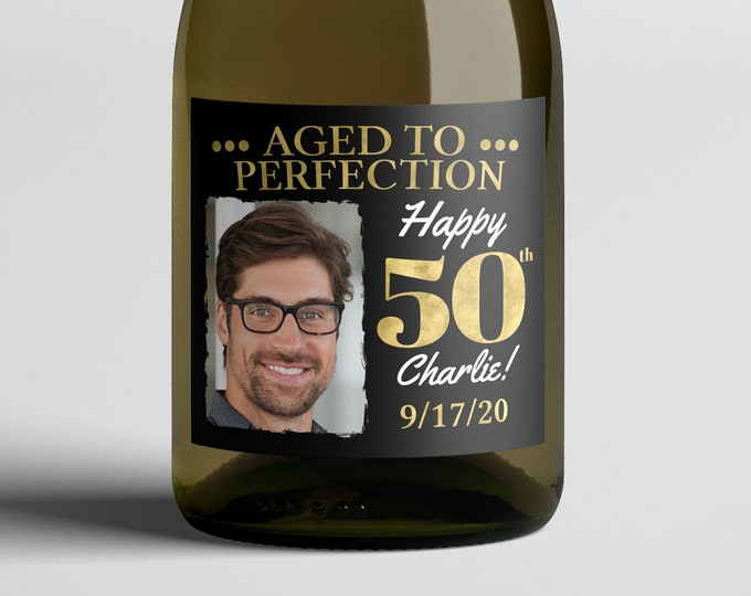 Any Age, digital wine labels, Aged to perfection, Cheers and beers, birthday, 30th, 40th, 50th, 60th, 70th, printable file only, milestone