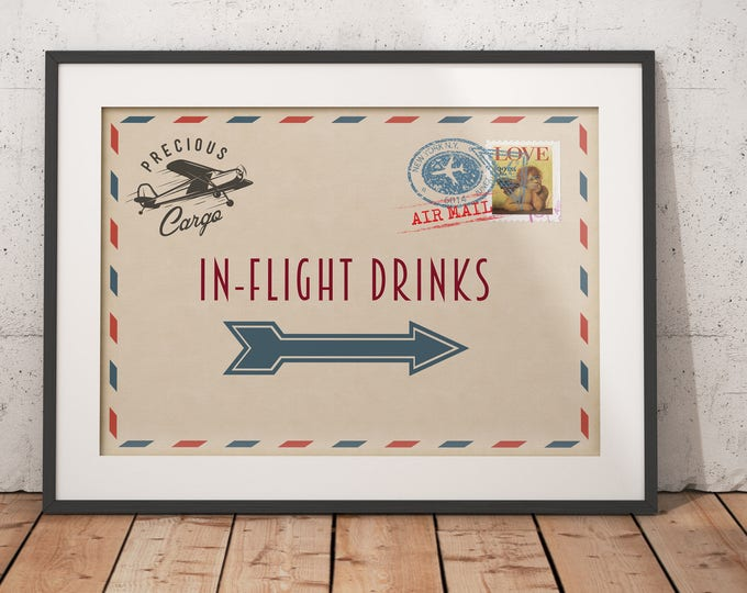 Precious Cargo, table signs, Oh The Places You Will Go Baby Shower Invitation • Baby Shower, vintage airplane, diaper raffle