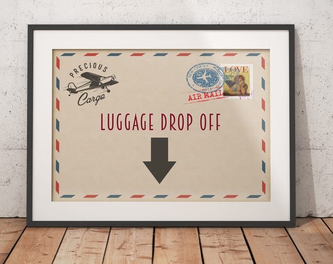 Precious Cargo, table signs,  Baby Shower sign, Baby Shower, vintage airplane, travel party