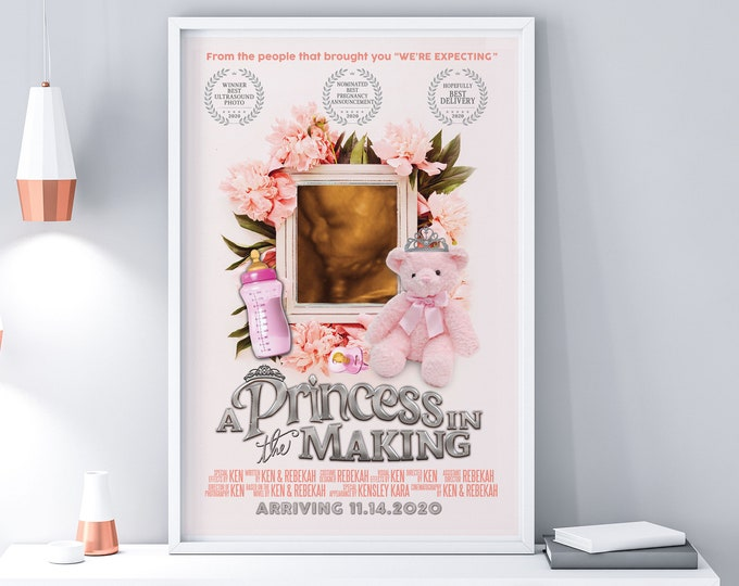 Baby shower gift, Custom movie Poster, Digital file only, Personalized Poster, new baby gift, Nursery art, Holiday gift