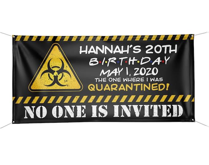 Digital Happy birthday banner, Digital file only, Honk outdoor sign, Quarantine Birthday , Birthday Yard Sign, Graduation banner