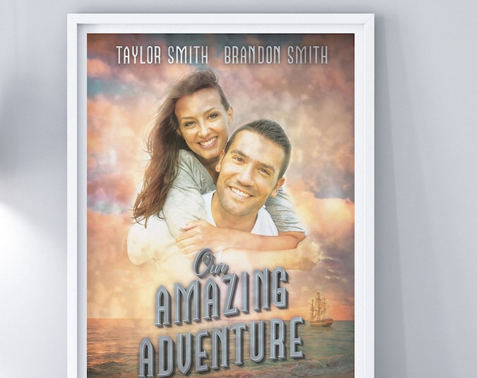 Custom movie Poster, Digital file only, Personalized Poster, Custom Art Prints, Wedding gift, Anniversary gift, Holiday gift