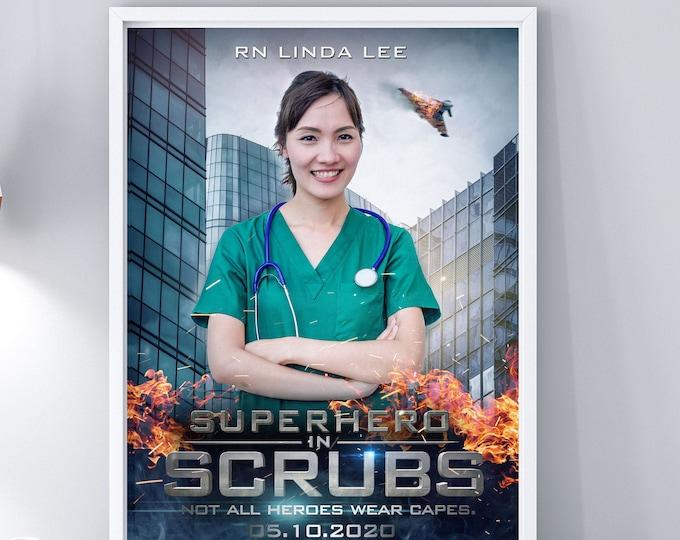 Custom movie Poster, Digital file only, Personalized Poster, Custom Art Prints, healthcare worker gift, gift, Nurse gift, Doctor gift, Gift