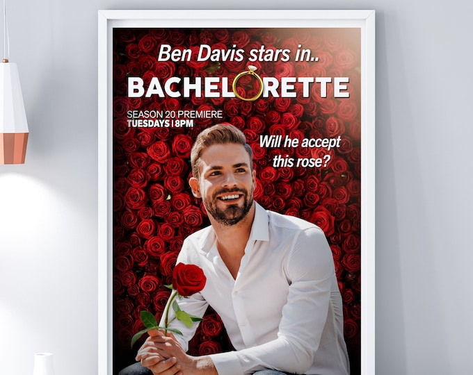Custom movie Poster, Digital file only, Engagement, Bachelor gift, Wedding gift, Bachelorette gift, Christmas gift, Valentine's Day gift